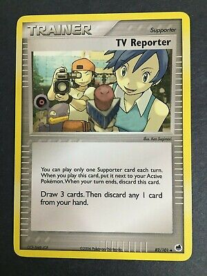 Pokemon - TV REPORTER 82/101 - EX Dragon Frontiers - Uncommon - NM