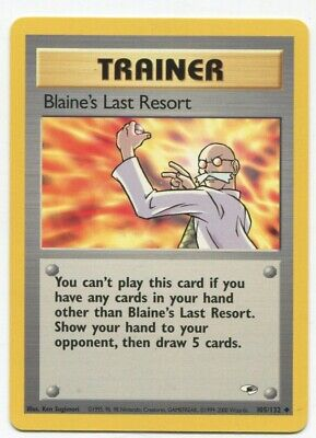 Pokemon Gym Heroes Blaine's Last Resort 105/132 Nm-m Psa Worthy