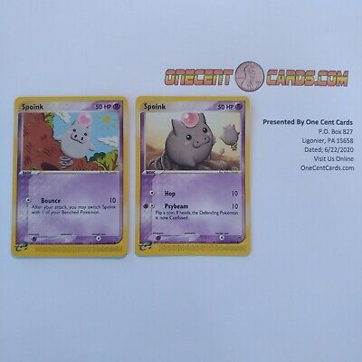 Pokemon EX Dragon Non Holo Spoink Evolving Set