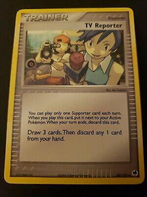 Pokemon Dragon Frontiers TV Reporter Trainer Single Card Uncommon