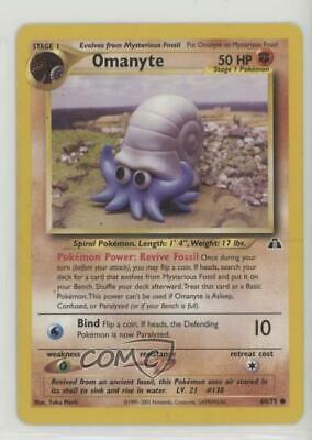 2001 Pokemon Neo Discovery Unlimited Omanyte #60 04r2