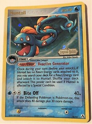 Pokemon Huntail - EX Legend Maker 18/92 Rare Reverse Holo TCG Near Mint NM