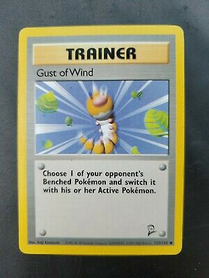 Pokemon Card Base Set 2 Trainer Gust Of Wind 120/130