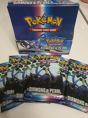 1x Pokemon Sealed Diamond And Pearl Base Set Booster Pack *unweighed* - Lucario