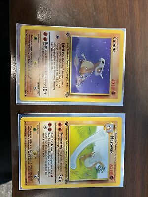 Pokemon Jungle First Edition cubone 50/64 and Marowak 39/64