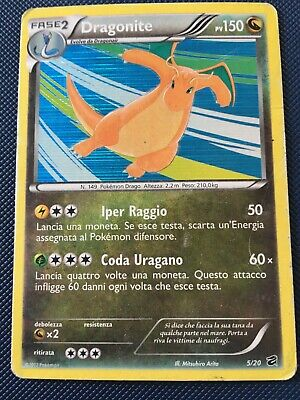 Pokemon Card - Dragonite - 5/20 - Dragon Vault - italian - Holo Rare - H Played