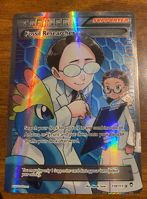 Fossil Researcher 110/111 Full Art Trainer Card | Pokemon TCG Furious Fists NM/M