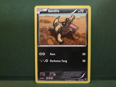 Pokemon XY Sandile Single Card Common