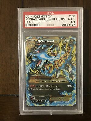 2014 Pokemon XY Flashfire Ultra Rare Holo M Charizard EX #108 PSA 8.5 NM-MT+