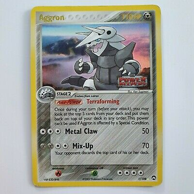 Aggron 1/108 EX Power Keepers Reverse Holo Pokemon Sleeved VGC Fast P&P