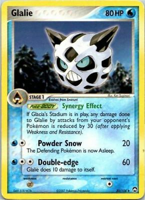 Pokemon GLALIE 30/108 UNCOMMON NM CARD  POWER KEEPERS