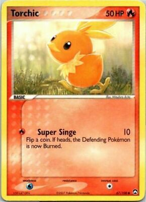 Pokemon TORCHIC 67/108 COMMON NM CARD  POWER KEEPERS