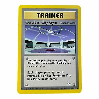 Pokemon Card Cerulean City Gym 108/132 Gym Heroes Uncommon NM Condition