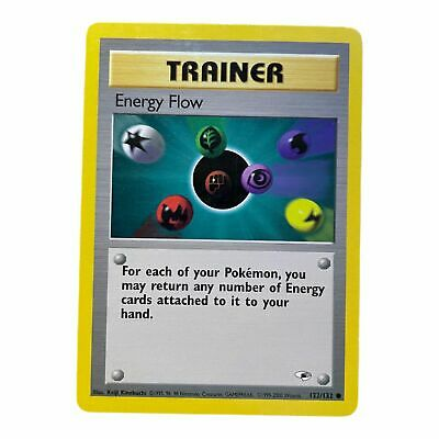 Pokemon Card Energy Flow 122/132 Gym Heroes Common NM Condition