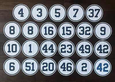New York Yankee Stadium Monument Park Retired Numbers Photo Poster Ticket Jersey
