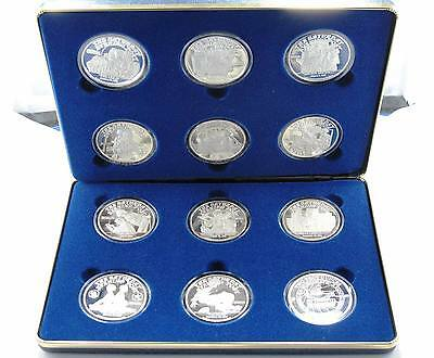 1988 Norman Rockwell - Post Silver Medallions Proof Set 12-2oz  Medallions