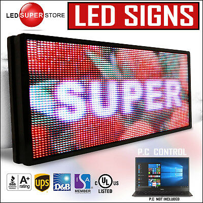 "Led Super Store: Full Color 19x102"" Programmable Msg. Scrolling Emc Outdoor Sign"