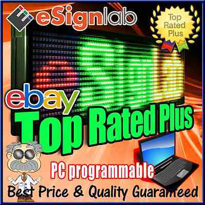 """Led Sign 3 Color Rgy 21"""" X 59"""" Pc Programmable Scrolling Message Display"""