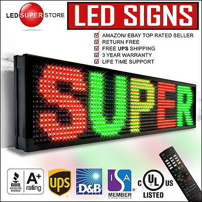"Led Super Store: 3col/rgy/ir 36x118"" Programmable Scrolling Emc Display Msg Sign"