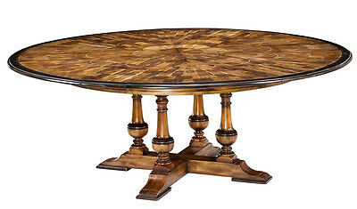 Large Round To Round Dining Jupe Table   Walnut Table With Hidden Leaves