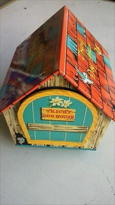 Tin Trick Dog House With Box Battery Type Vintage Toys Figure[611]