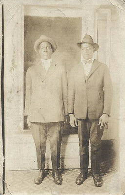 Photo Postcard Photograph Of Very Trendy Young African American Men