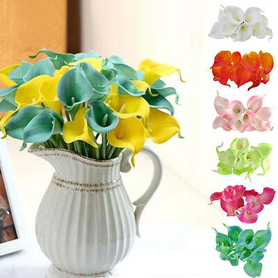 Другое 10pcs Artificial Calla Lily Real