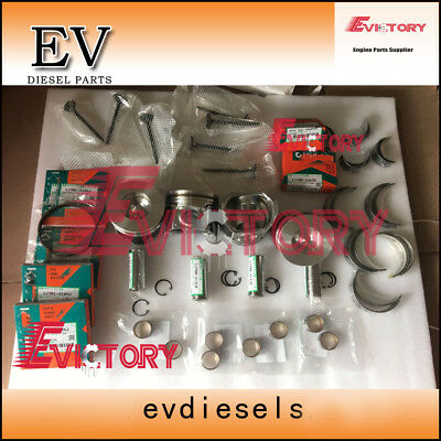 For Kubota Rebuild V2607 V2067-t V2607-di Piston+ring+liner+bearing+valve+gasket