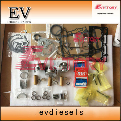 D1105 Piston+ring+liner+gasket+valve Kit+beairng+water Pump+con Rod For Kubota