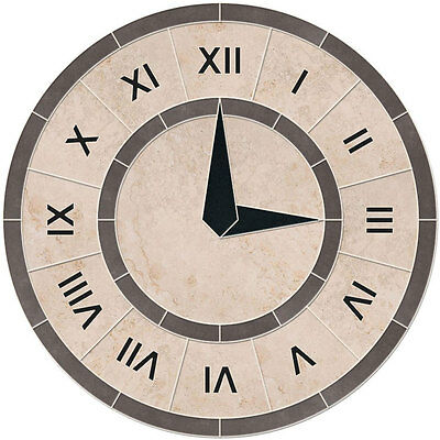 Porcelain Tile Roman Numeral Clock Mosaic Medallion -yes We Can Change The Time!