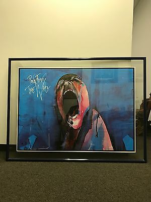 pink floyd the wall poster screaming head rare memorabilia framed