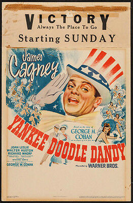 Yankee Doodle Dandy Vintage Window Movie Poster James Cagney