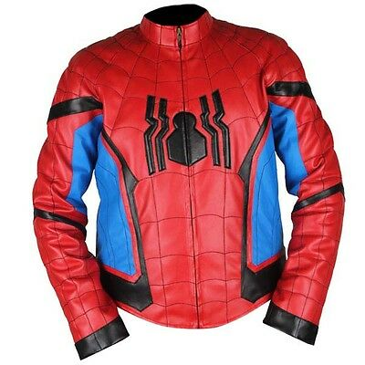 Spider Man Home Coming Real Leather Jacket