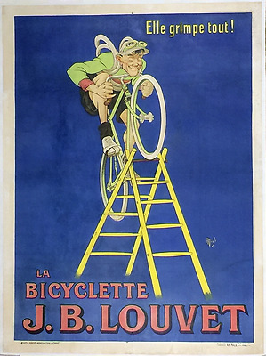 J. B. Louvet - Original Vintage Bicycle Poster - Cycling - Mich