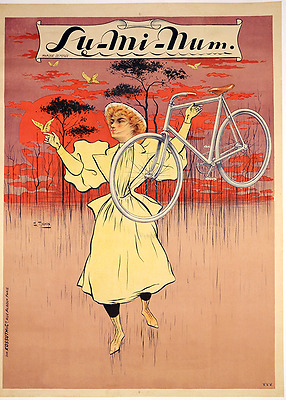 Lu-mi-num - Original Vintage Bicycle Poster - Cycling - Tichon - Aluminum