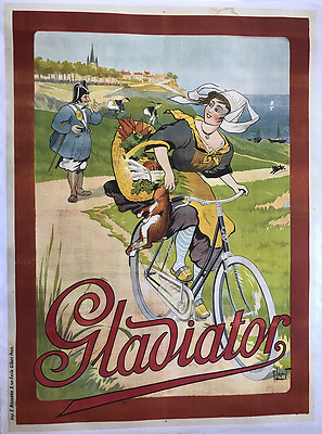 Gladiator - Original Vintage Bicycle Poster - Cycling - Leverd