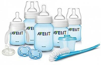Philips Avent Classic+ Newborn Feeding Bottles Starter Set In Blue Bpa Free New