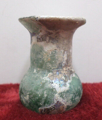 Ancient Antique Artifact Glass Vase Made In Isreal