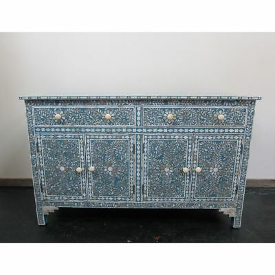 """60""""long Mother Of Pearl Inlay Wooden Modern Antique Handmade Sideboard Furniture"""