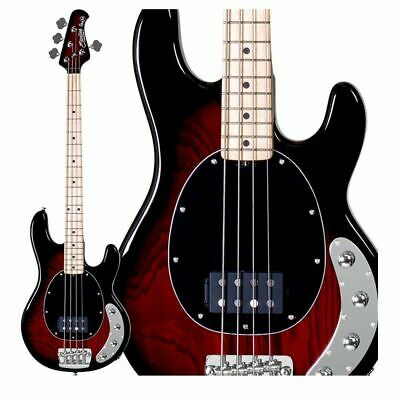 Sterling By Music Man Ray34 Active Electric Bass Ruby Red Burst Finish