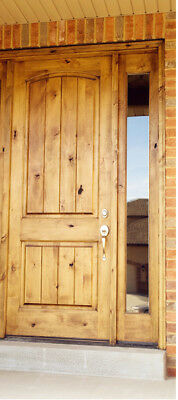 2868 Rustic Knotty Alder Entry Door With Single Sidelite