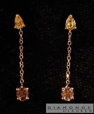 .65ctw yellow and brown diamond earrings r8062 diamonds by lauren