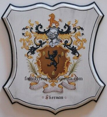 custom family crest wall plaque  coat of arms wall plaque