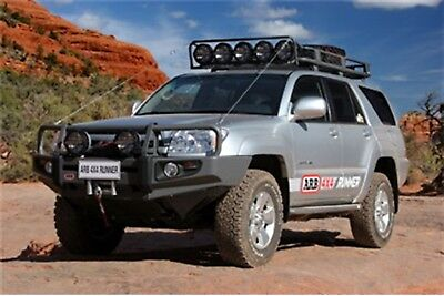 arb 4x4 accessories 3421500 front deluxe bull bar winch mount bumper
