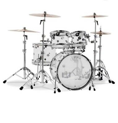 dw design series 5 piece shell pack  clear acrylic   free accessories