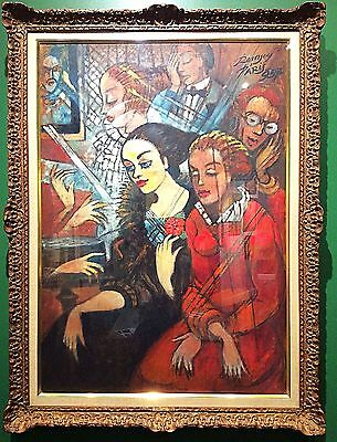 rare collectible art at the concert by hungarian jeno remsey music original oil