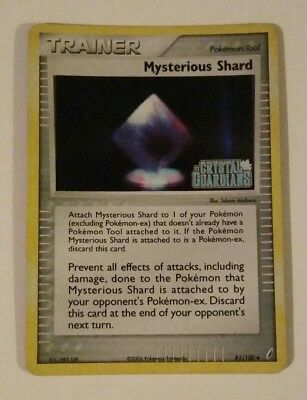 Pokemon Trainer MYSTERIOUS SHARD 81/100 Crystal Guardians Rev Holo - MINT 2006