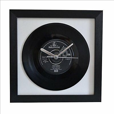 "the beatles – yesterday  7"" single  framed wall clock"