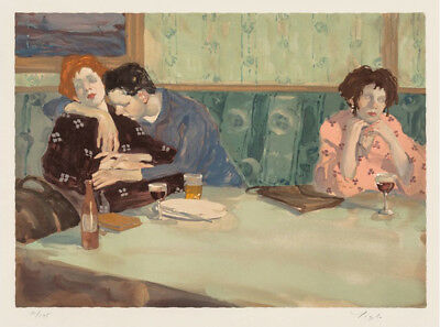 rare collectible art looking elsewhere by malcolm liepke l/e lithograph