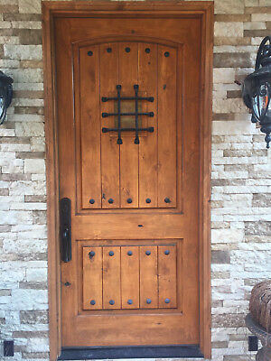 3068 Single Tuscany Arch Top Knotty Alder Rustic Entry Door